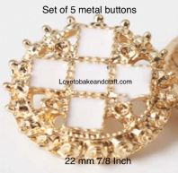 White  enamel buttons, Gold  metal buttons,  Free worldwide shipping (2) (3) (4) (5) (6) (7)